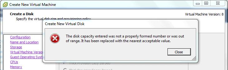 VMWare-create-disk-error
