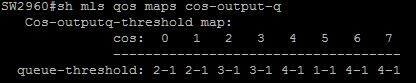 mls qos maps cos-output default