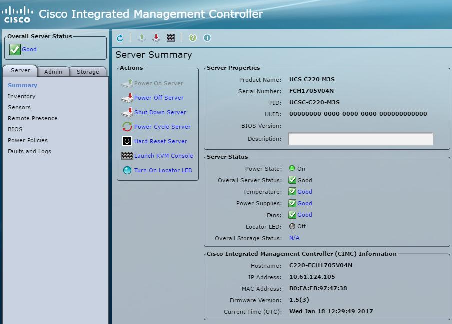 Cisco Integrated Management Controller (KVM)