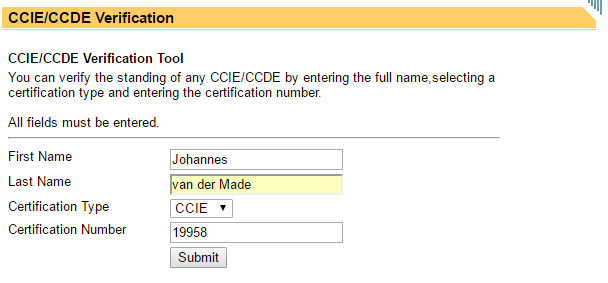 CCIE Verification Tool