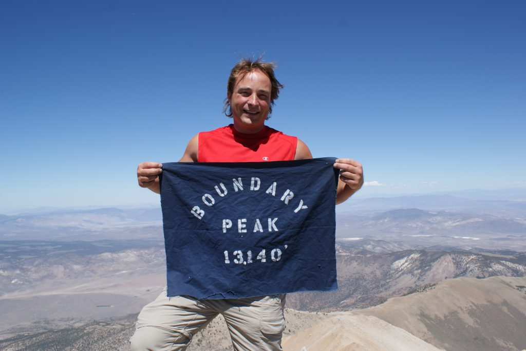 Here I am at Boundary Peak, 4007 Meter