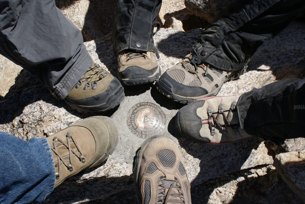 The feet on the summit.