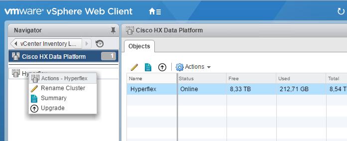 Hyperflex Upgrade in vSphere