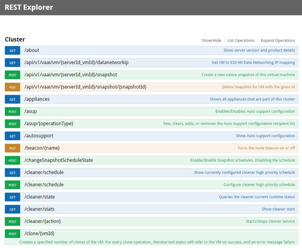 Hyperflex API