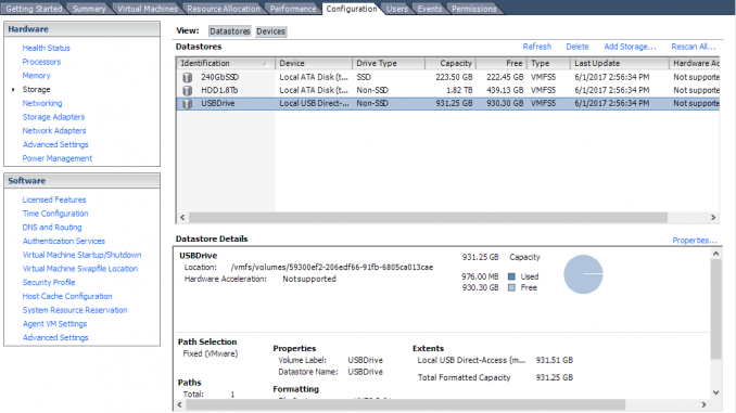USB Drive as Datastore on ESXi 6 0 – I Am Joost