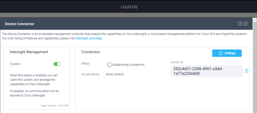 Cisco HyperFlex Intersight