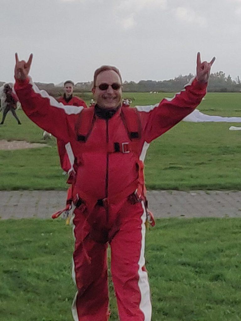 My first parachute tandem jump.
