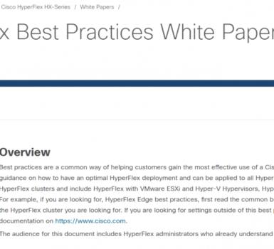 Best Practices HyperFlex