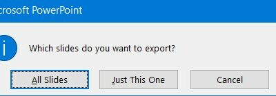 Export Slides Powerpoint