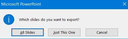 All Slides export