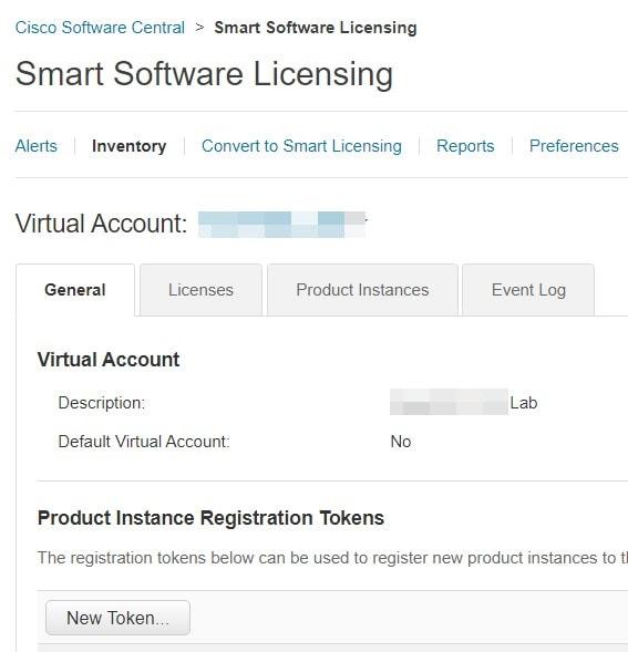 Smart Account License Portal